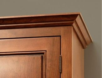 cherry inset cabinet with low profile soffit crown molding rh pinterest com