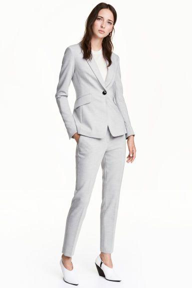 Pantalón de vestir - Light grey marl - MUJER  08f2c99ee5f7