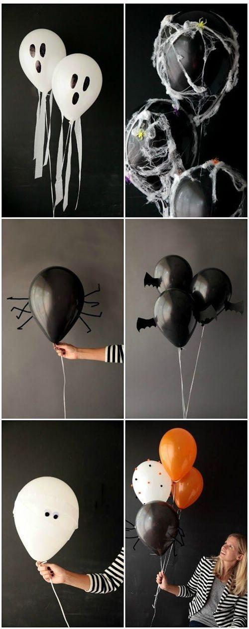 So einfach kannst du aus Luftballons süße Grusel-Deko basteln ;) #halloween #d…