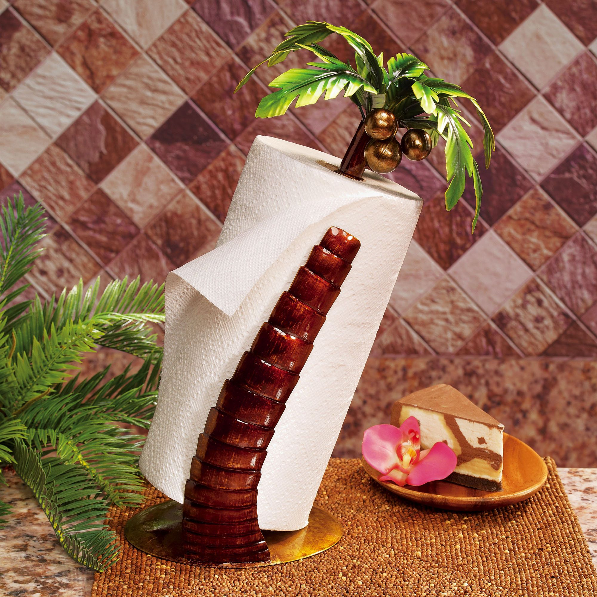 Curved Palm Tree Paper Towel Holder