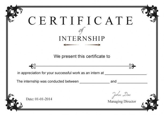 Internship Certificate Templates Free   Millennial Internships ...