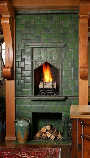 Sources for Arts & Crafts Tile | Fireplace tile surround ...