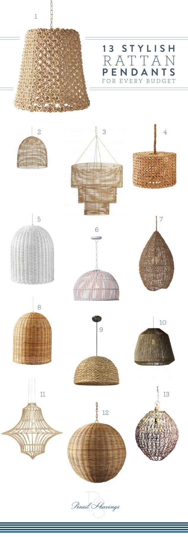 Rattan Pendants are having a moment | Kücheninsel beleuchtung ...