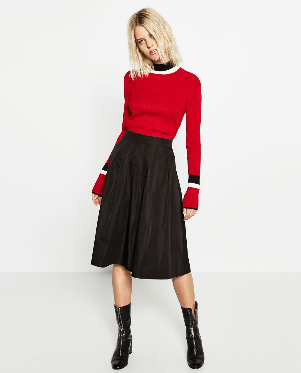 zara woman combined office. Image 2 Of REVERSIBLE MIDI SKIRT From Zara Woman Combined Office Y