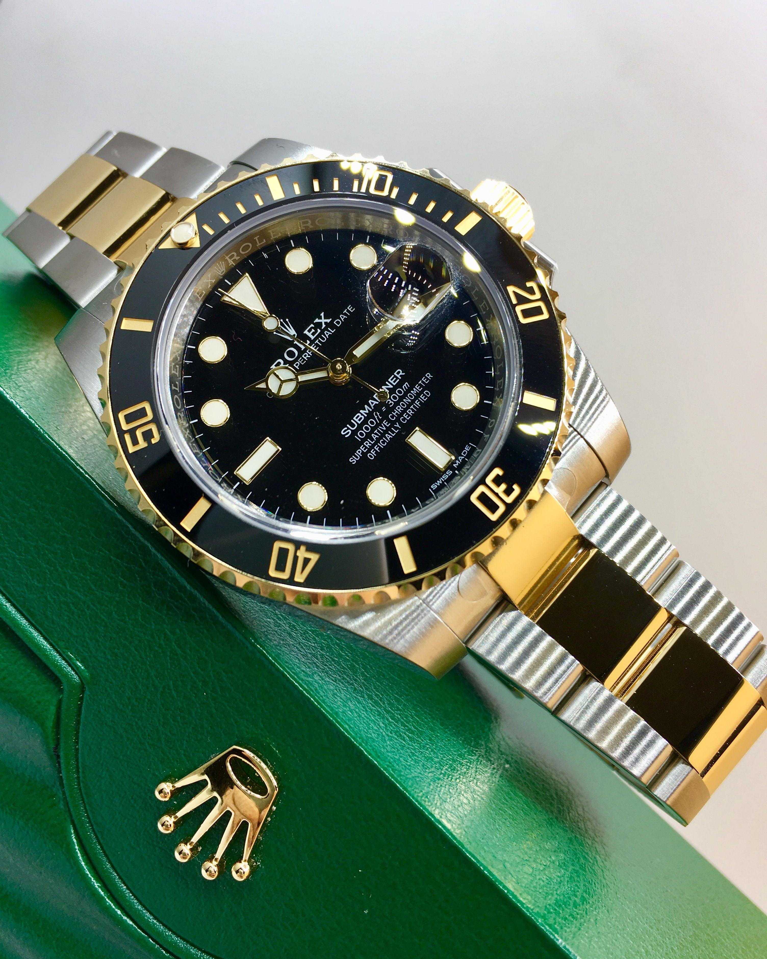 Rolex Submariner Steel Gold Black 116613ln Watches Rolex