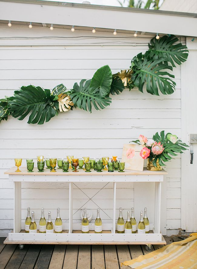 wedding shower centerpieces beach theme%0A A Boho Holiday Bash  Hawaiian Theme Party DecorationsHens Party  ThemesTropical
