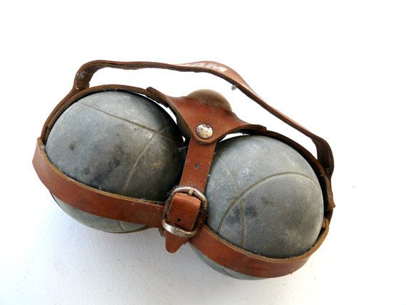 Pair of French Antique Petanque Boules in their by FrenchCandy