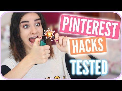 PINTEREST BEAUTY HACKS GETESTET | Lena Marie - YouTube