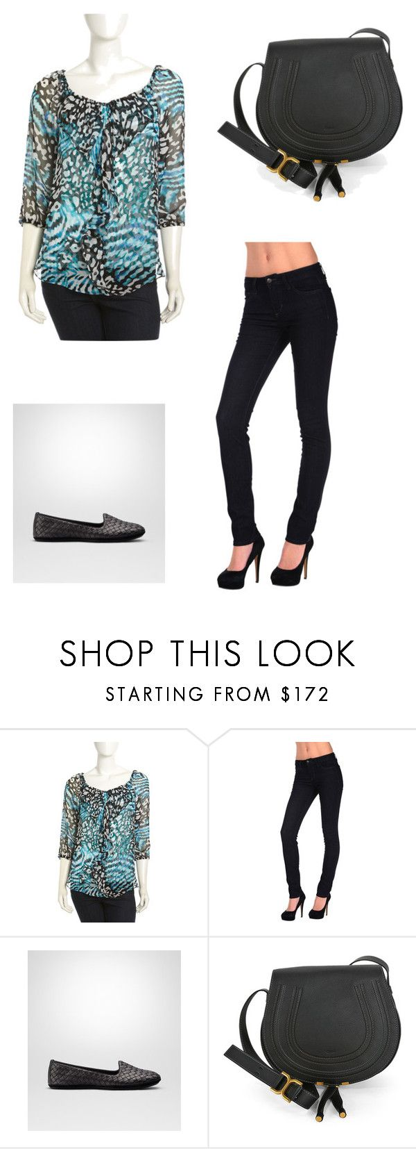 """""""Possible outfit"""" by shylyassertive ❤ liked on Polyvore featuring Alberto Makali, Joe's Jeans, Bottega Veneta and Chloé"""