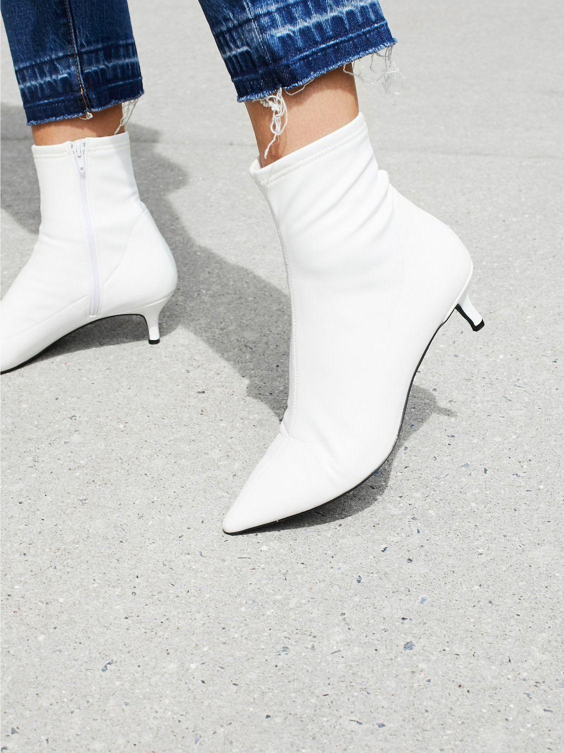 Marilyn Kitten Heel Boot Kitten Heel Boots White Boots Boots