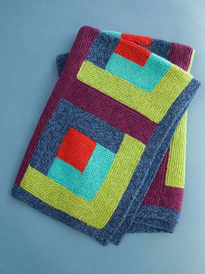 Love these colors! | CROCHET KNIT | Pinterest | Decken, Stricken und ...