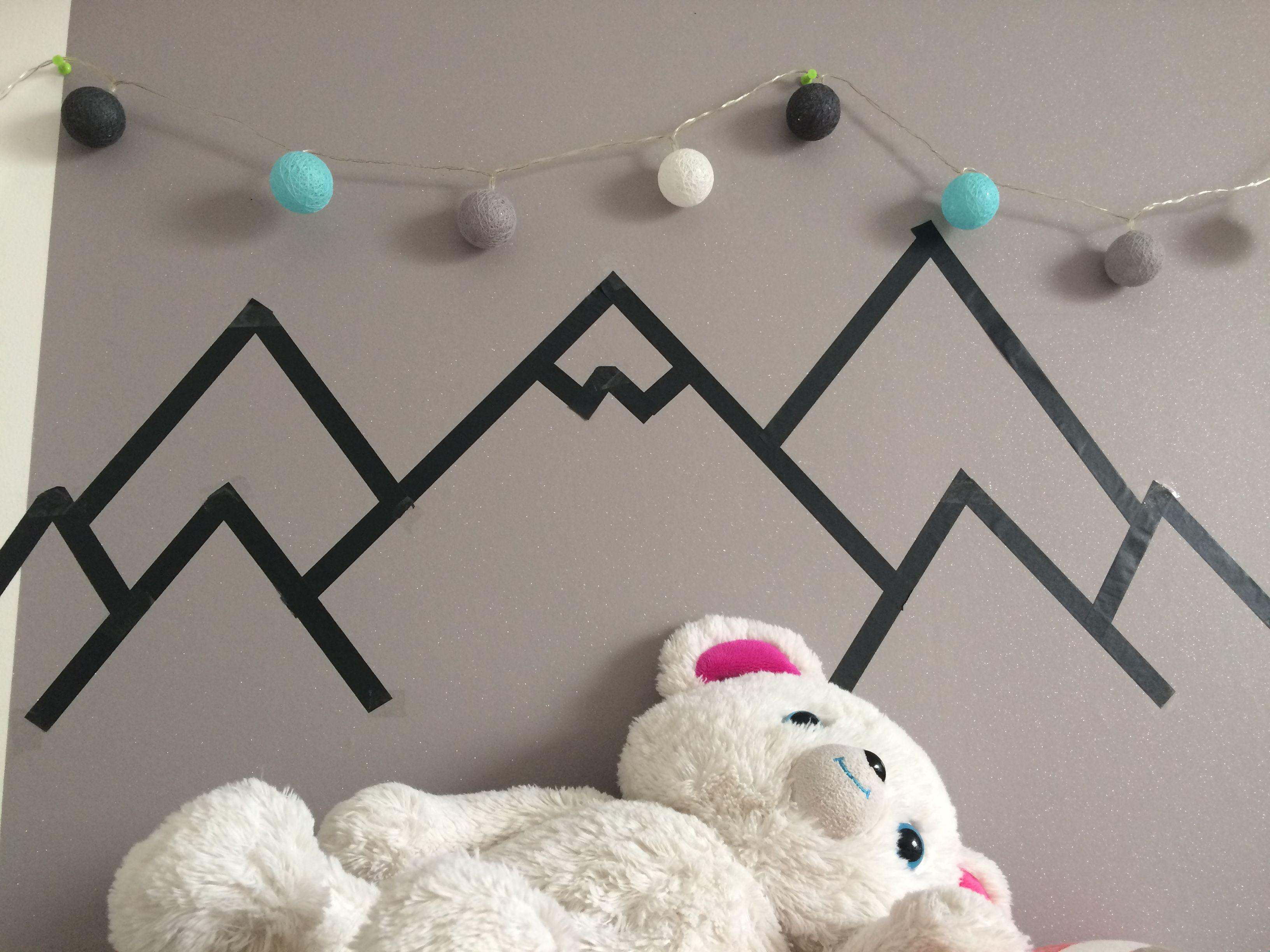 Mountains - masking tape