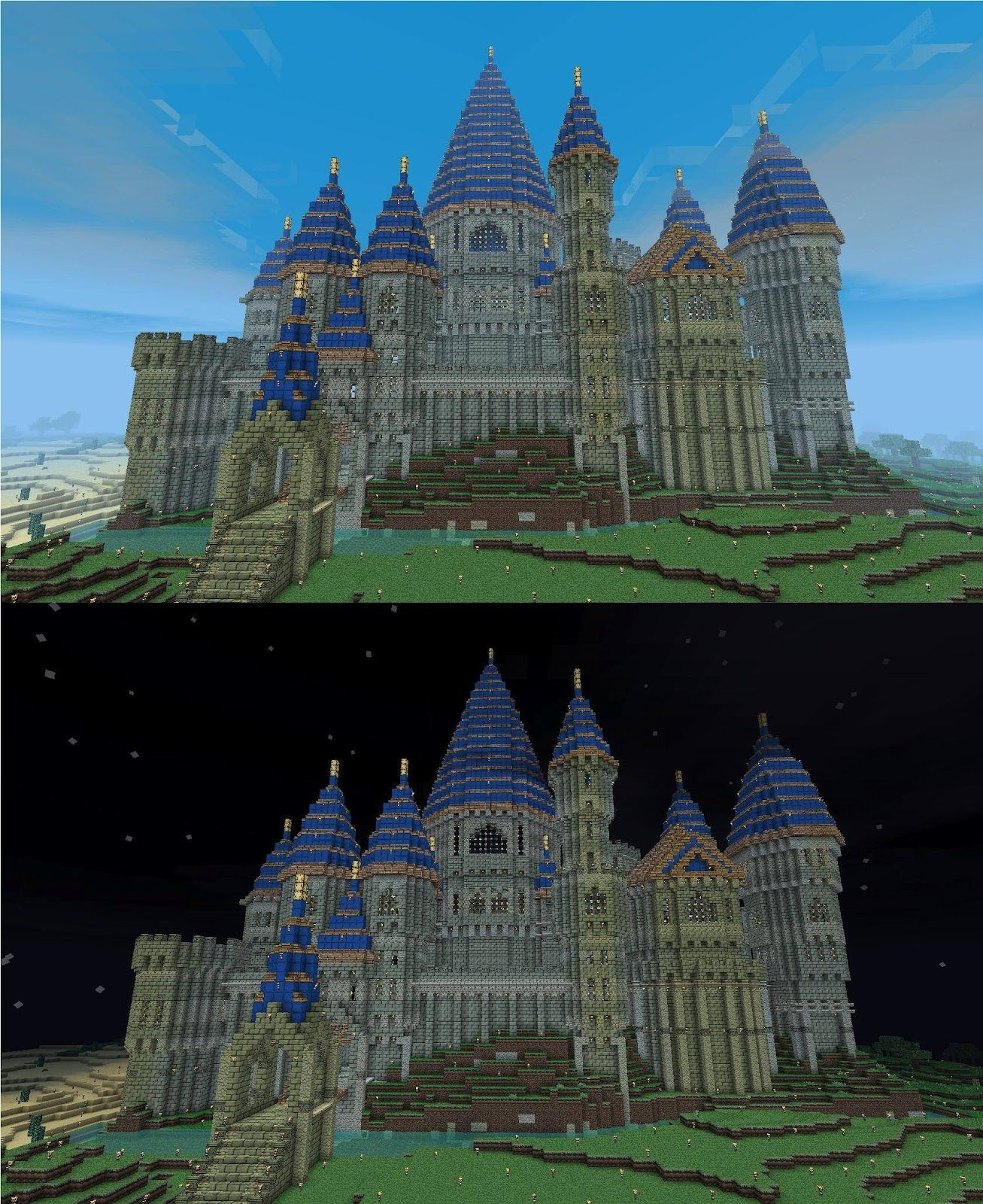 minecraft mountain castle ideas - google search | minecraft gaming