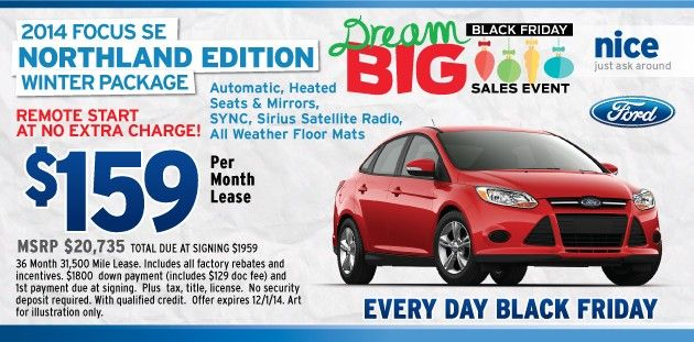 Ford Focus Black Friday 2014 Sioux Falls Lease Deals Ford
