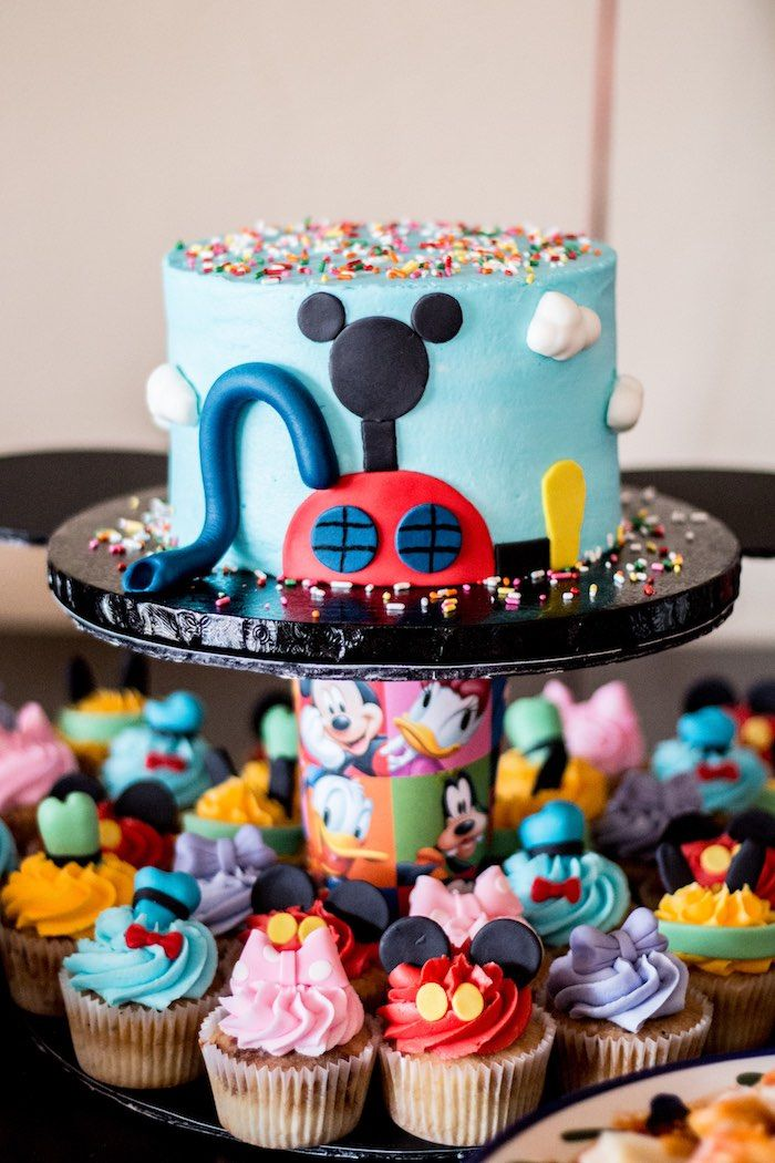 Mouskacake and cupcakes from Mickey Mouse Clubhouse Themed