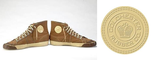 "29a0c3756007 The ""World s First Basketball Sneakers"" were created circa 1892 by the  Colchester Rubber Company"