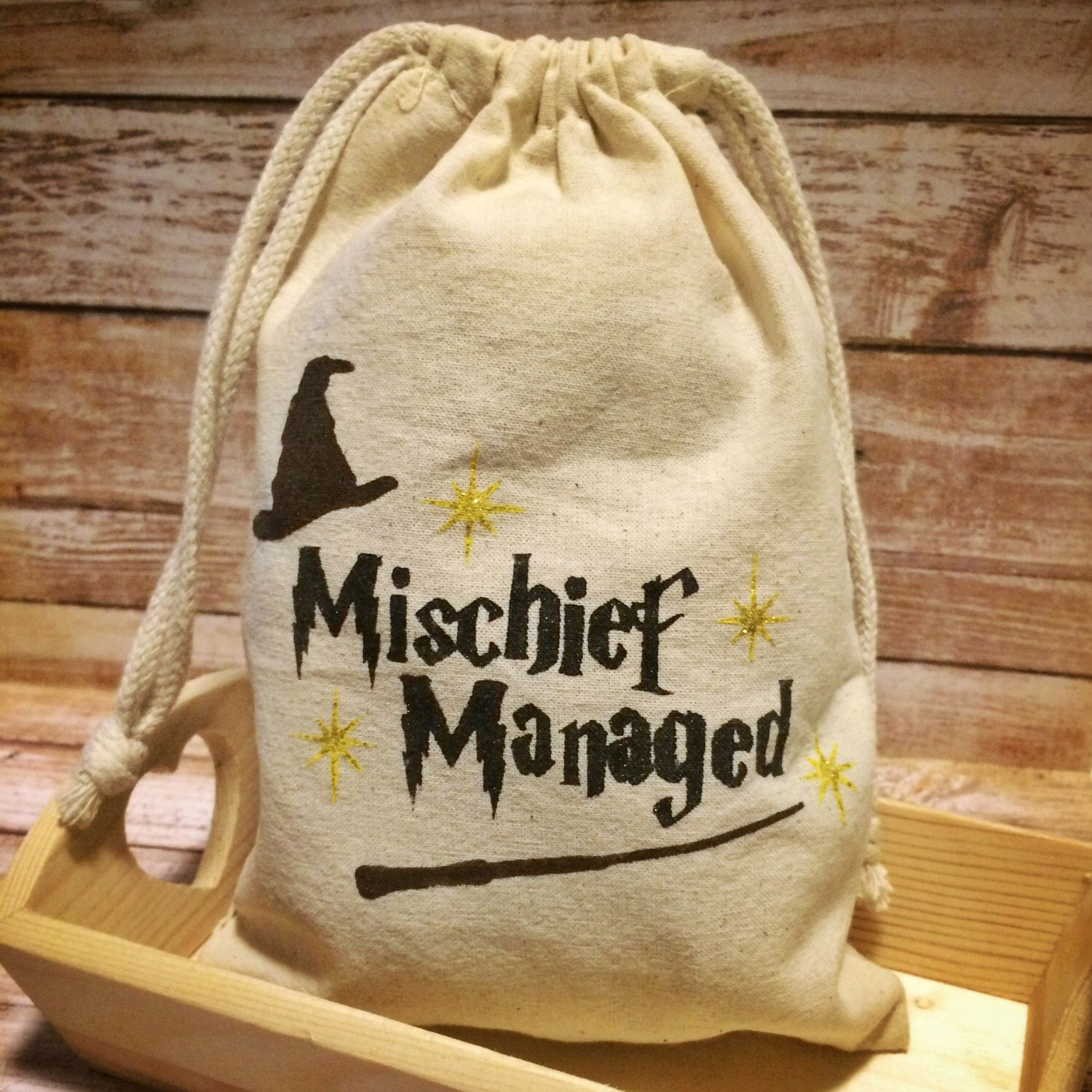 "Harry Potter ""Mischief Managed"" Favor Bags Harry Potter Birthday"