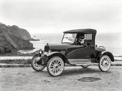 "San Francisco circa 1919. ""Briscoe auto at Lands End."" http://www.shorpy.com/node/20538 Christopher Helin"