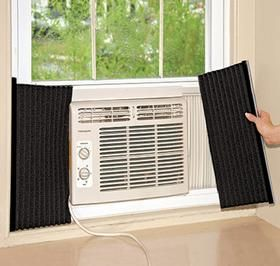 Air Conditioner Side Insulating Panels Harriet Carter Window Unit Air Conditioners Window Air Conditioning Units Window Air Conditioner Installation