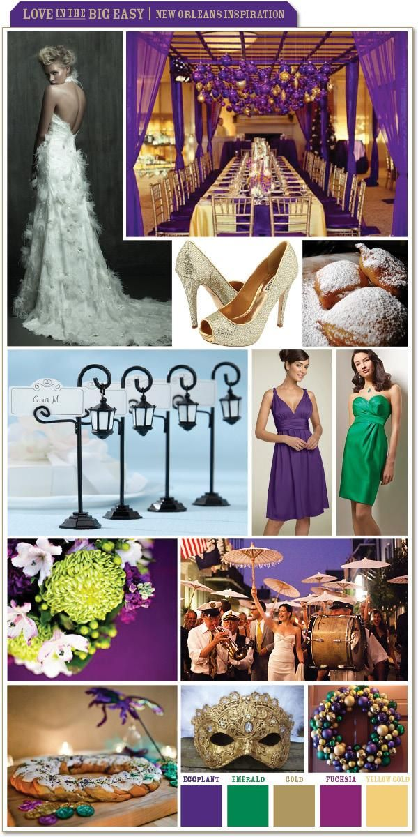 purple themed bridal shower%0A new orleans style party decorations   Love in the Big Easy  New Orleans  Inspiration