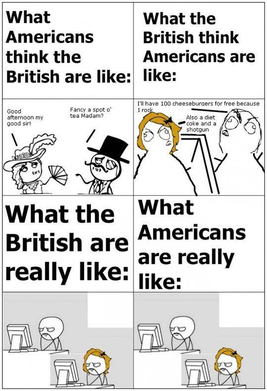 British Humour Vs American Humor Its Memeingful