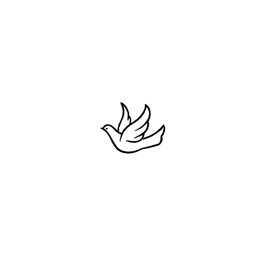 Minimalist Dove Set Of 2 With Images Small Dove Tattoos