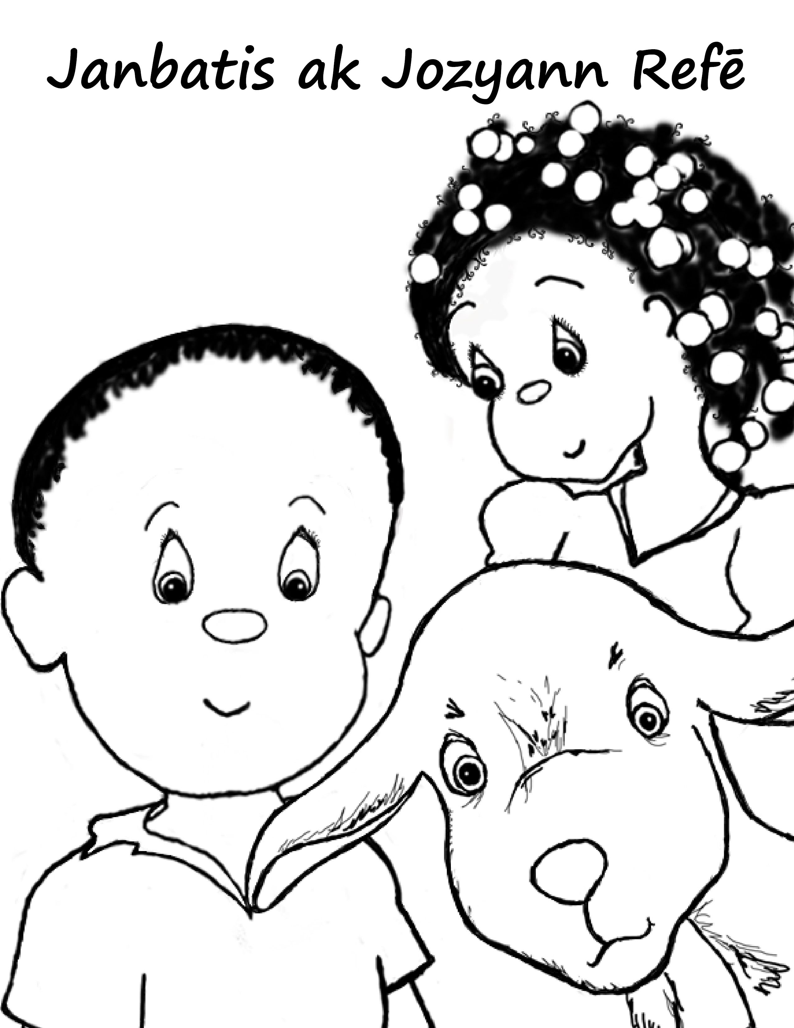 Haiti Children Coloring Pages