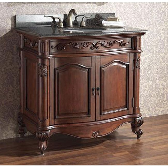 Attirant Avanity Provence 36 Inch Single Vanity In Antique Cherry Finish With Sink  And Top