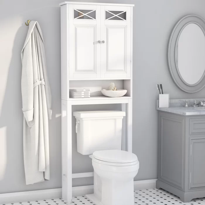 Roberts 25 W X 68 Hx 8 D Free Standing Over The Toilet Storage Toilet Storage Bathroom Storage Wall Mounted Bathroom Cabinets