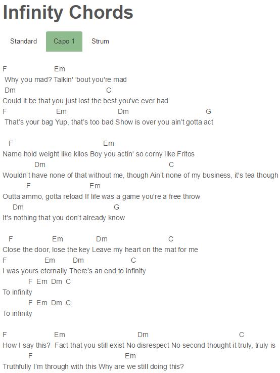 Capo 1 Infinity Chords Mariah Carey Lyrics Pinterest Mariah