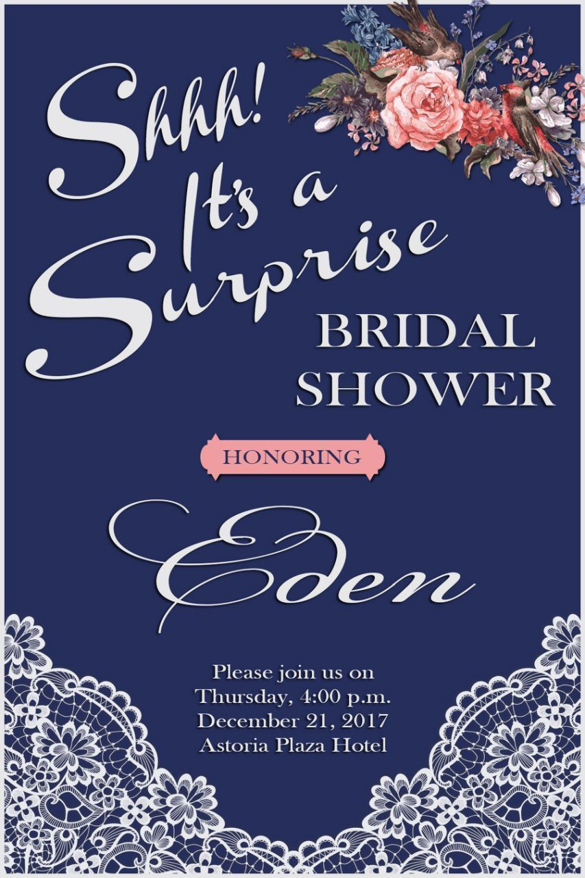 Surprise Bridal Shower Invite Surprisebridalshowerinvitations