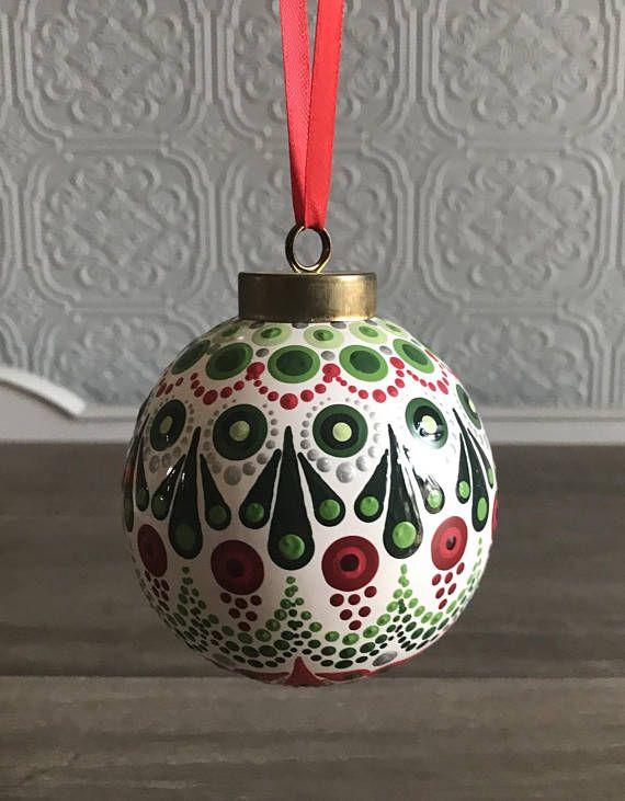 hand painted white ceramic dot mandala christmas ornament bulb mandala rocks pinterest ornaments christmas ornaments and christmas - Ceramic Christmas Ornaments