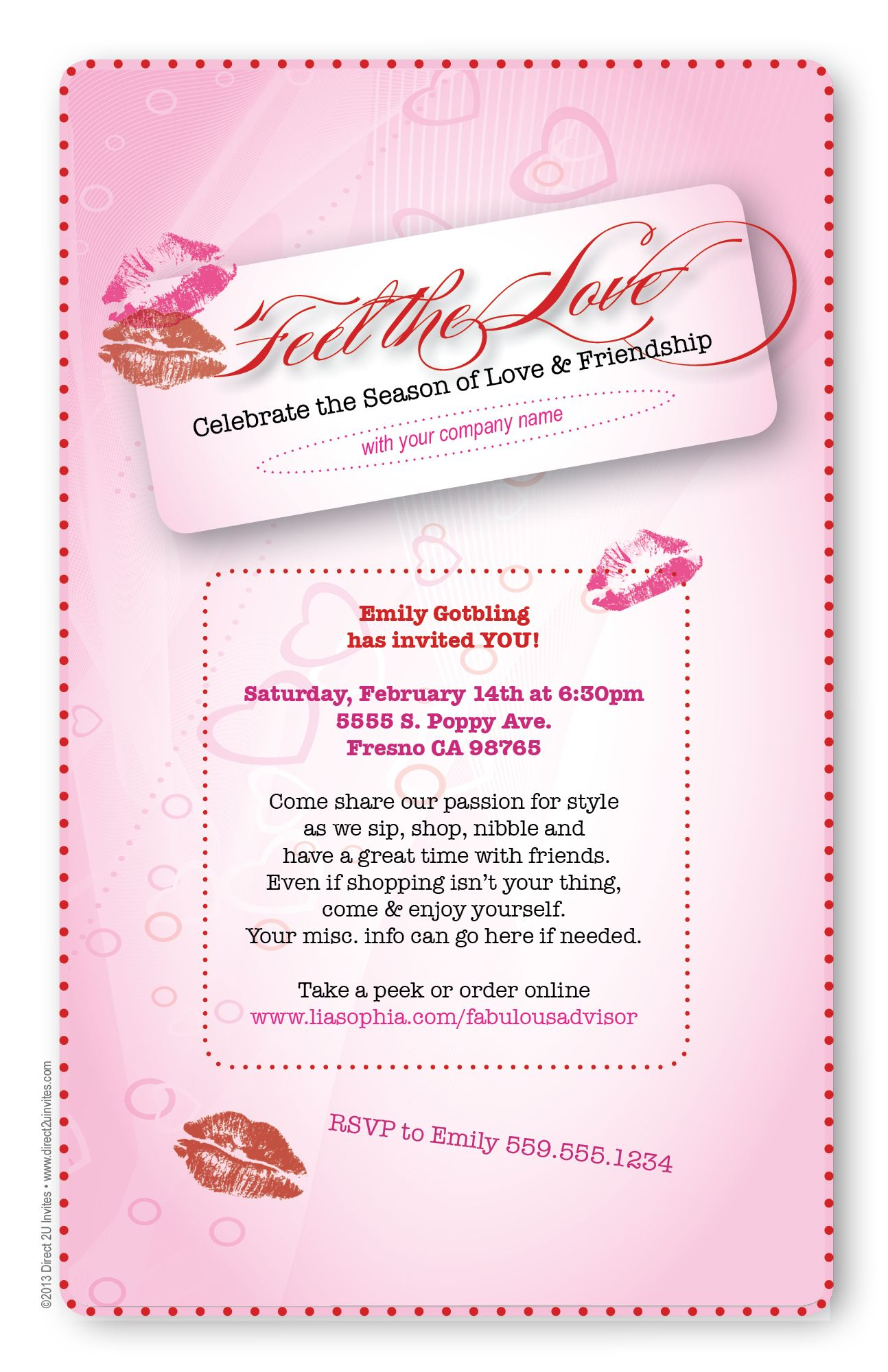 Feel the love for direct sales with a fun Valentine invite for ...