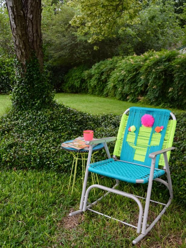 Amazing How To Macrame A Vintage Lawn Chair Patio Lawn Chairs Gmtry Best Dining Table And Chair Ideas Images Gmtryco