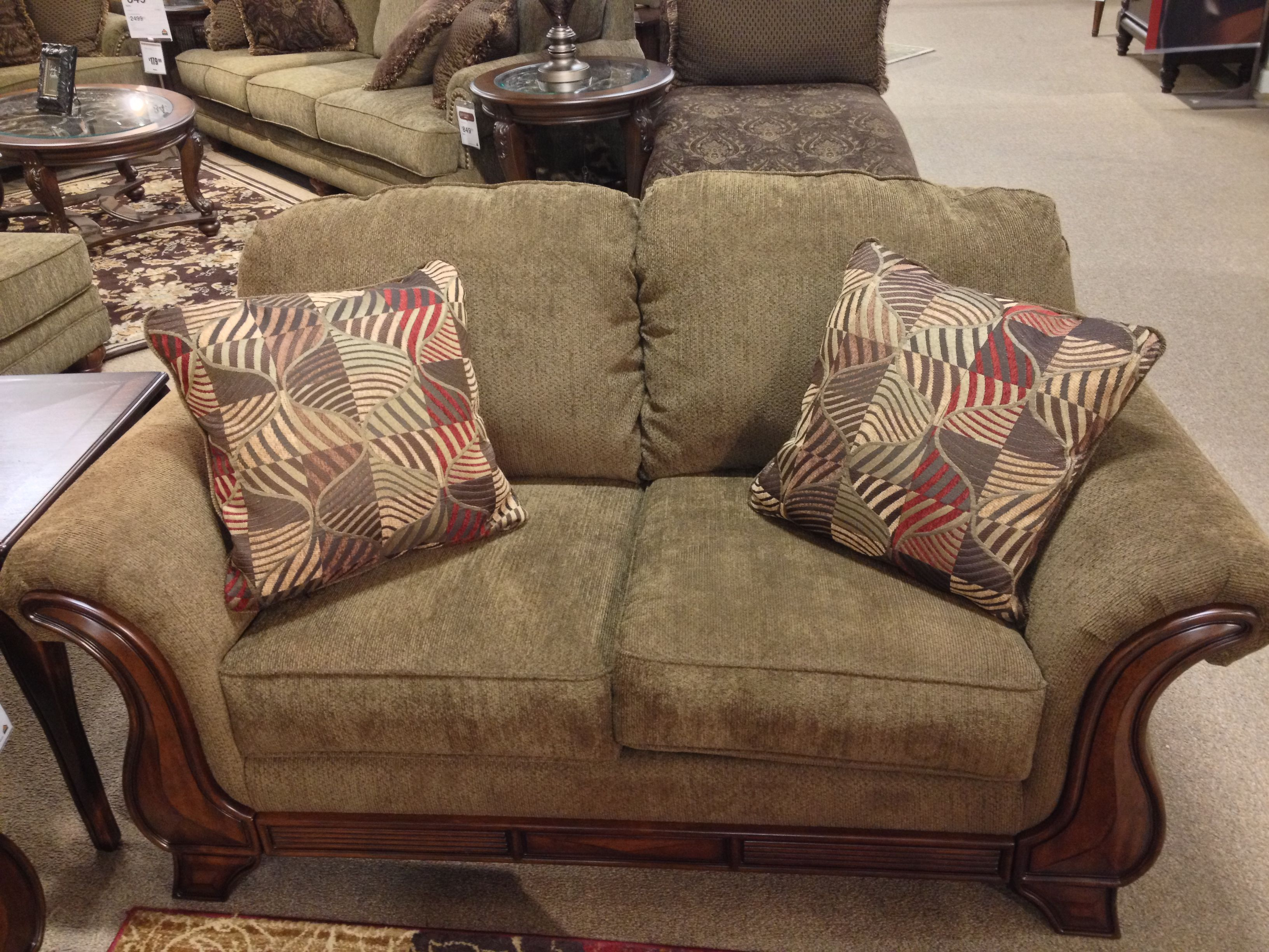montgomery mocha loveseat at ashley furniture in tricities