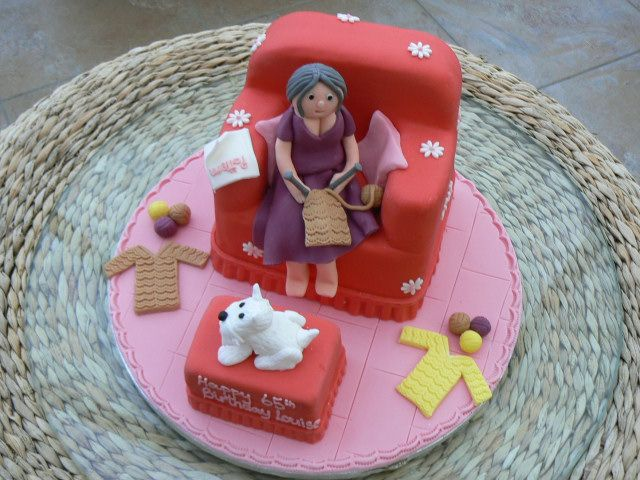 Knitting Cake Decorations : Knitting that looks like cakes or look