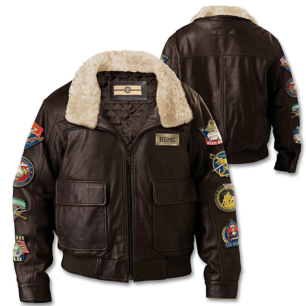 U.S. Military Air Force Men's Leather Aviator Bomber