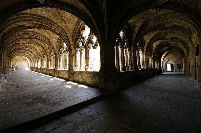 Cloitre De L Abbaye De La Chaise Dieu Castles Interior Cloister Auvergne