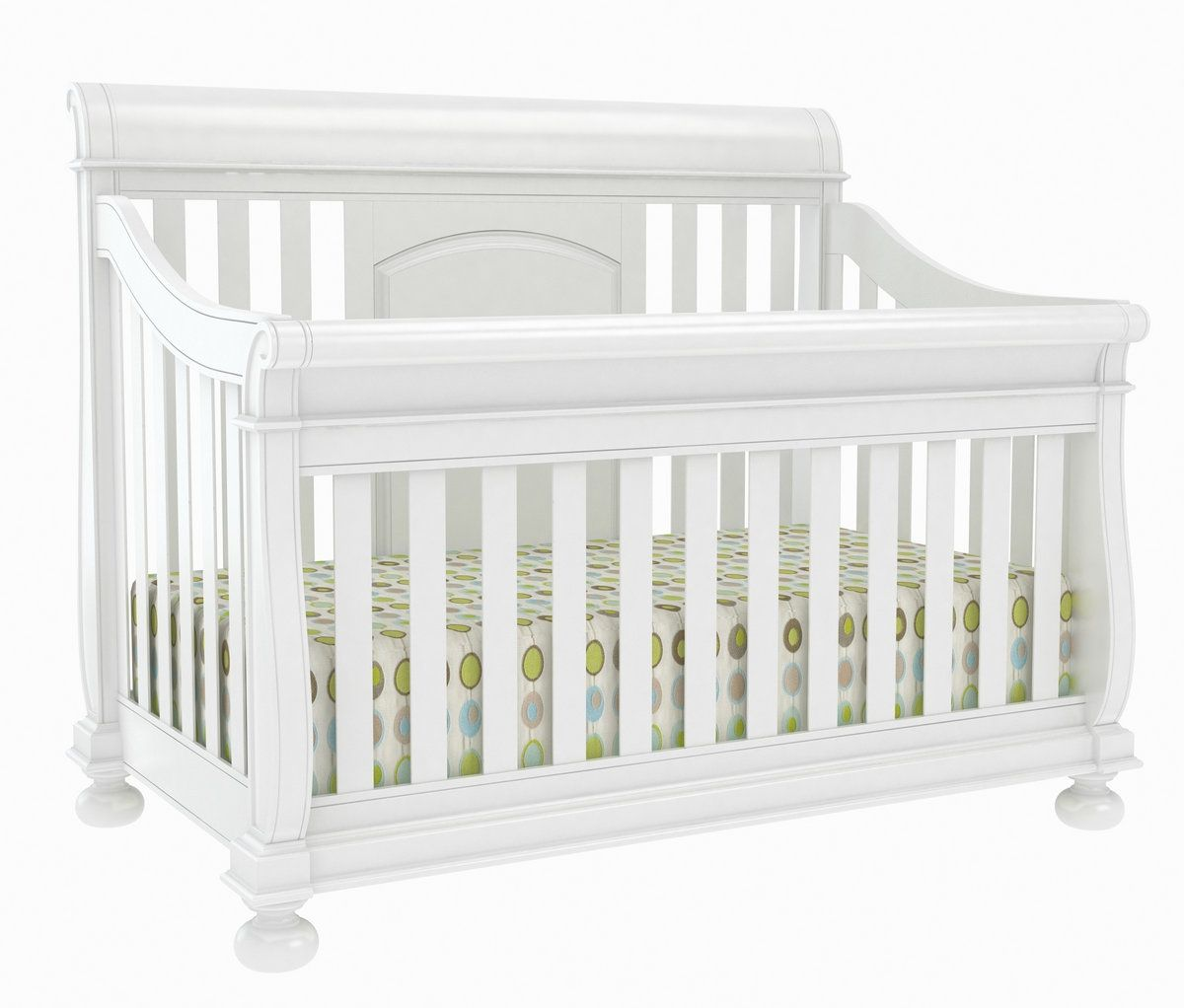 Brookfield fixed gate crib for sale - Creations Baby Summer S Evening Sleigh Crib White