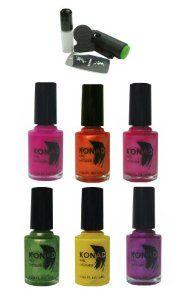6x Konad Nail Art Regular Polish 10 Ml Konad Stamping Nail Art