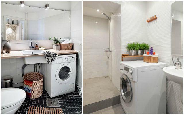 Lavadora en el ba o via la garbatella reforma nuevo for Instalar lavadora en bano