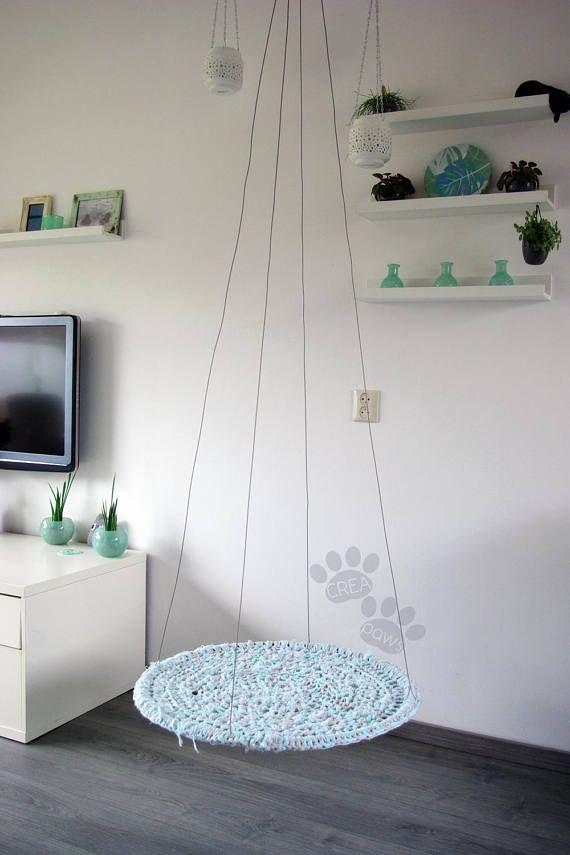cat hammock fuzzy mint diy pinterest h ngematte katze katzen h keln und aufh ngen. Black Bedroom Furniture Sets. Home Design Ideas