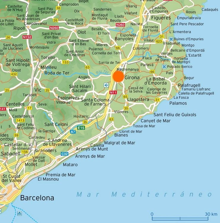 Map of surroundings of Girona Maps Pinterest Spain and City