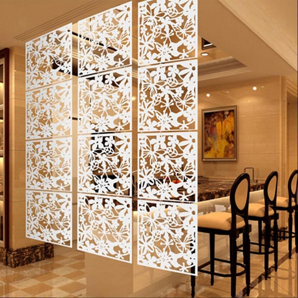 Diy room divider ideas home pcs butterfly bird flower hanging screen room divider panel home