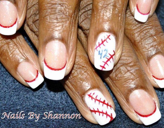 Cute baseball nail designs manicure pinterest baseball nail cute baseball nail designs prinsesfo Gallery