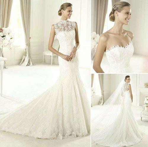 Alberta Ferretti ~ Lace Sheer Wedding Dress