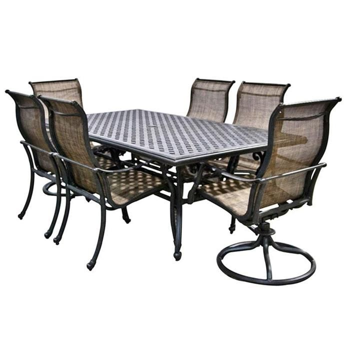 World Source 7-Piece Castle Rock Dining Set - World Source 7-Piece Castle Rock Dining Set Outdoor/Patio Trends