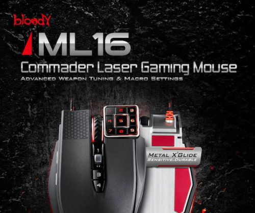 Bloody ML160 Commander Laser Gaming Mouse Specs:Dimensions : 5 x