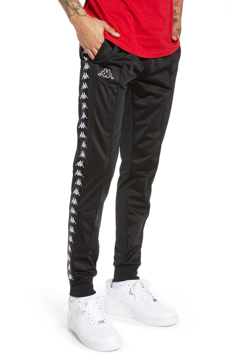 Active Banded Track Pants In Black Black | Hombres, Estilos