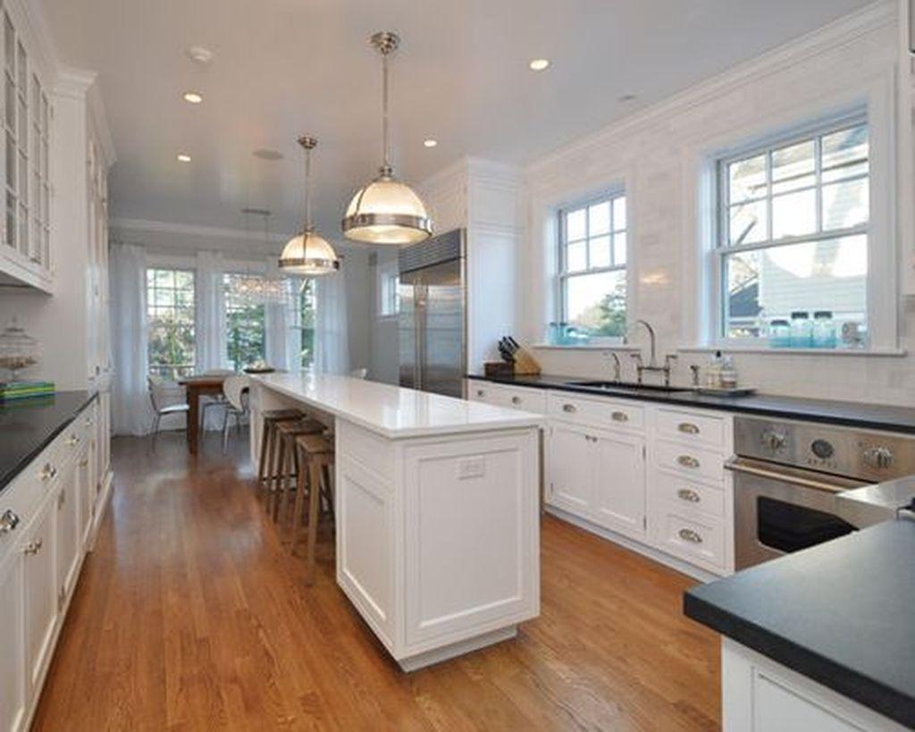 9+ Arrangement Remodeling Ideas   Narrow kitchen island, Kitchen ...